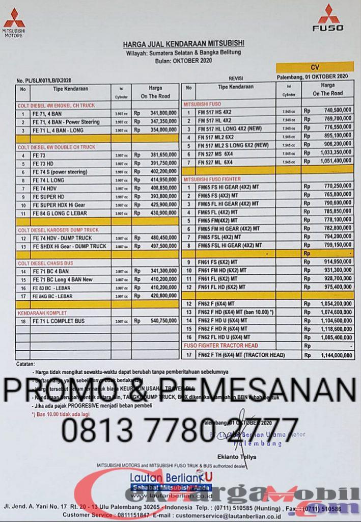 Harga Dealer Mitsubishi Palembang