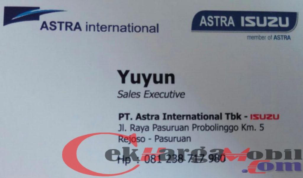 Sales Dealer Isuzu Probolinggo